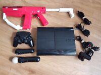 ** Bundle ** Sony Playstation 3 PS3 Super Slim 500GB Black Console Bundle