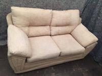 2 seater cream fabric sofa Free delivery
