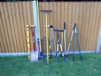 Collection of 12 mainly garden hand tools