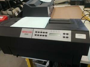 Genicom 3860D Dot Matrix Printer Black & White, 600CPS Ethernet Serial Paralel