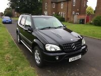 Superb condition Mercedes ML270 estate. Large estate space, heated seats, leather throughout.