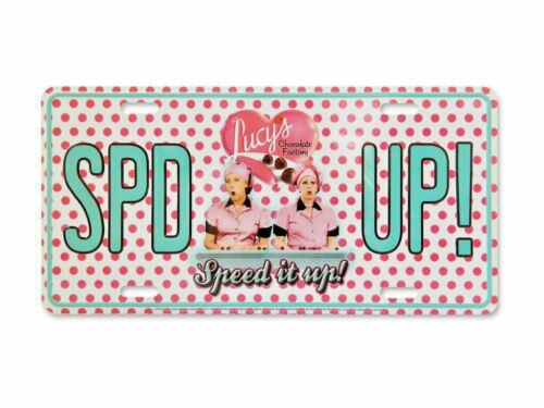 """Lucy """"Speed It Up"""" License Plate, 12"""" x 6"""", Polka Dots, I love Lucy Memorabilia"""