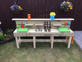 SPECIAL OFFER £139 CHILDREN'S OUTDOOR PLAY BENCHES HANDMADE TO ORDER INCLUDES EVERYTHING YOU SEE