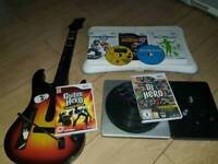 Wii Guitar Hero DJ Hero and Balance Board