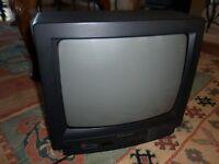 """Mitsubishi 13"""" television with remote"""
