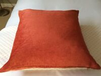 Marks & Spencer Terracotta Chenille Cushion Cover and Feather Pad Insert (1 of 2)