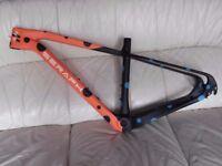 carbon mtb frame,650b, new, small.