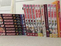 Manga comics in English: Vampire Knights volumes 1-4, Negima 1-9, Ottomen 1-3