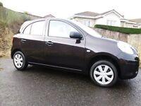 2013 Nissan Micra( New Shape) 17K miles ,MOT Jan 2018, FSH, One Owner,£30 Road Tax