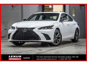 2019 Lexus ES 350 F SPORT II; CUIR TOIT GPS CARPLAY ENFORM LSS+