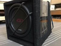 "Alpine 8"" subs with amps"