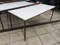 Grey steel frame school office workshop tables 180cm x 75cm x 71cm