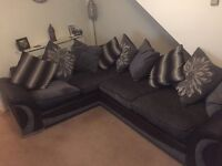 SCS grey black corner sofa