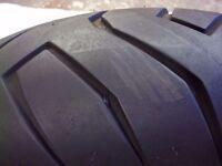 REAR TYRE AND RIM pirelli dragon 160/60/17 rear tyre on a gsxr rim