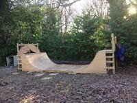 Skateboard Ramp newly built