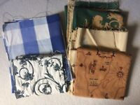 Bundle of Curtain Fabric Offcuts