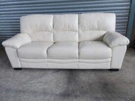 Cream Leather 3-1-1 Suite (Sofa)
