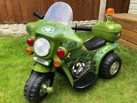Ride-on electric army motorbike