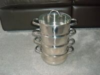 BRAND NEW - STILL WRAPPED - 4 TIER STAINLESS STEEL STEAMER
