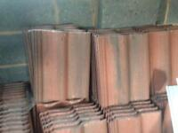 Quick sale 100+ red ridge roof tiles for sale !!35