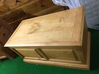 Selection of solid oak blanket boxes from £150 new