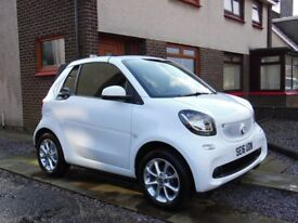2016 Smart Fortwo 1.0 Passion Convertible Auto**Only 3,800 miles**Top Spec**Sat-Nav**Bluetooth**