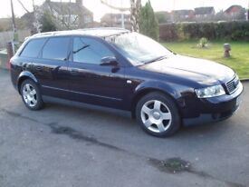 2003 AUDI A4 AVANT 130 TDI SE 6 Speed, dark metallic blue