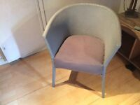 Upcycled grey chair soft seat