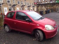 2003 03 TOYOTA YARIS 1.0 MOT JULY 2018 IDEAL 1ST CAR CLEAN AND RELIABLE £495