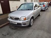 2002 NISSAN MICRA 1.2 ENGINE 12 MONTHS M.O.T