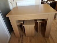 Table and 4 stools like new £30