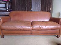 Laura Ashley Burlington Leather Large two seater sofa REDUCED