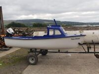 14ft Fibreglass fishing boat