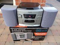 Venturer 3 CD Home Stereo System