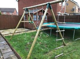 Outdoor Swing Set - Made by Plum
