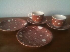 Retro Cups, Saucers & Side Plates