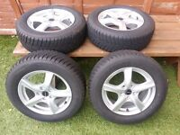 Pristine 'as new' set of Alloy Winter Wheels to fit Ford SMAX, Mondeo, Galaxy, Focus, CMAX etc
