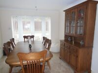 Mid Oak Dining Room Furniture, in excellent condition used very little in 17 years