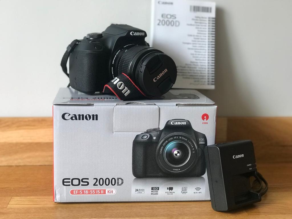 db1e9989249 CANON EOS 2000D DSLR CAMERA WITH EF-S 18-55MM IS II LENS KIT