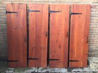 4 Solid Wood Cottage Doors