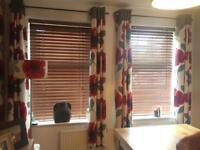 NEXT 'Poppy' fully lined curtains.