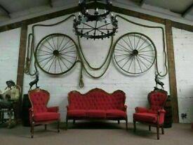 Renaissance Style Buttoned Suite