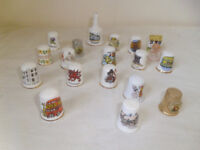 COLLECTION OF 19 THIMBLES FROM AROUND THE U.K.