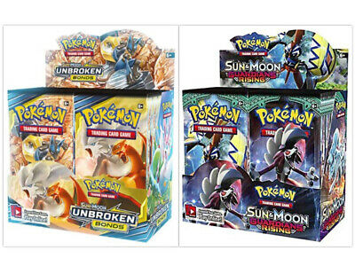 Pokemon TCG Sun & Moon Unbroken Bonds + Guardians Rising Booster Box Bundle