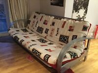 Futon with reversible cover