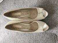 Next cream shoes new never worn