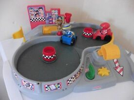 Fisher Price Little People electronic racing cars £10 collection from Shepshed.