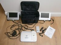 Acoustic Solutions 7 inch Dual Screen Portable DVD Player, great for the home, car/camping, REDUCED!