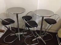 High table & 2 high chairs X2