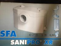 Saniflow toilet system new